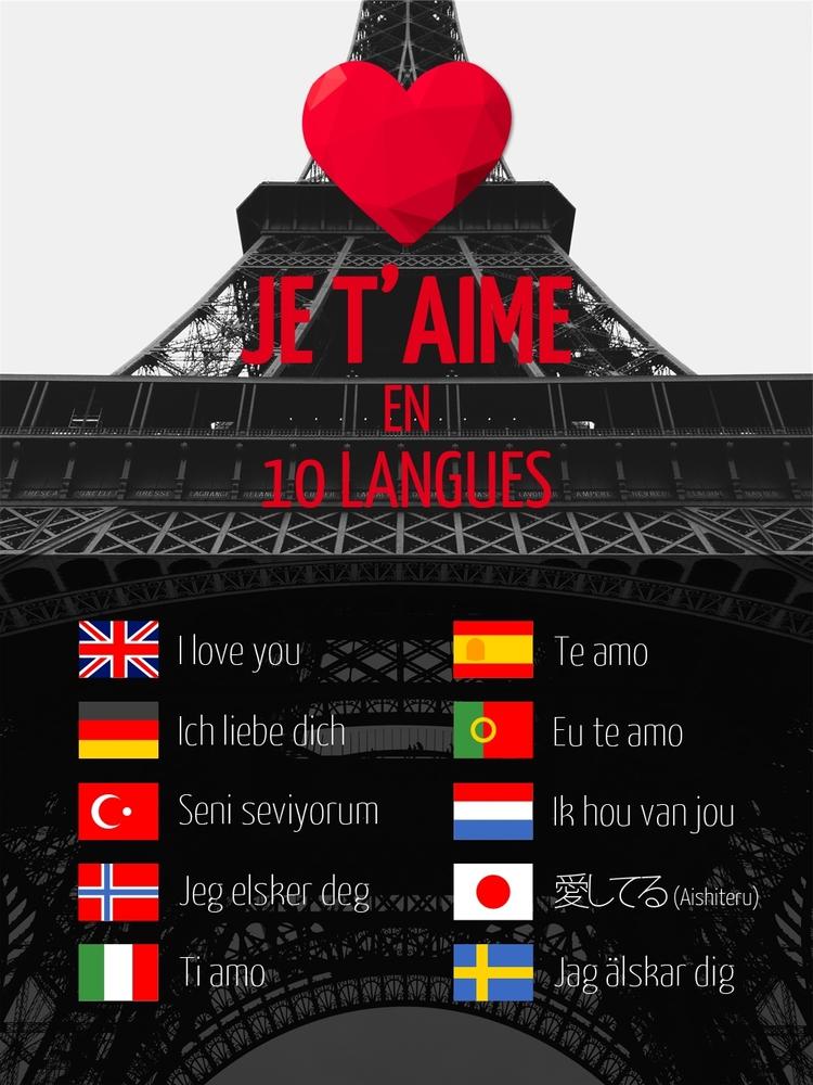 je t u0026 39 aime en plusieurs langues